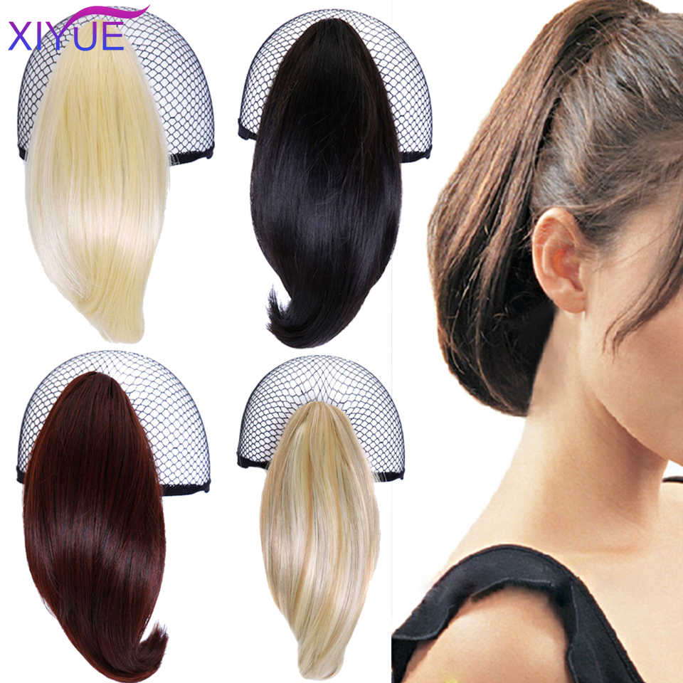 Synthetic Claw Straight Ponytail Hairpiece Short Cute Drawstring Pony Tail Hair Piece Clip In Hair Extensions For Girls Synthetic Ponytails Aliexpress