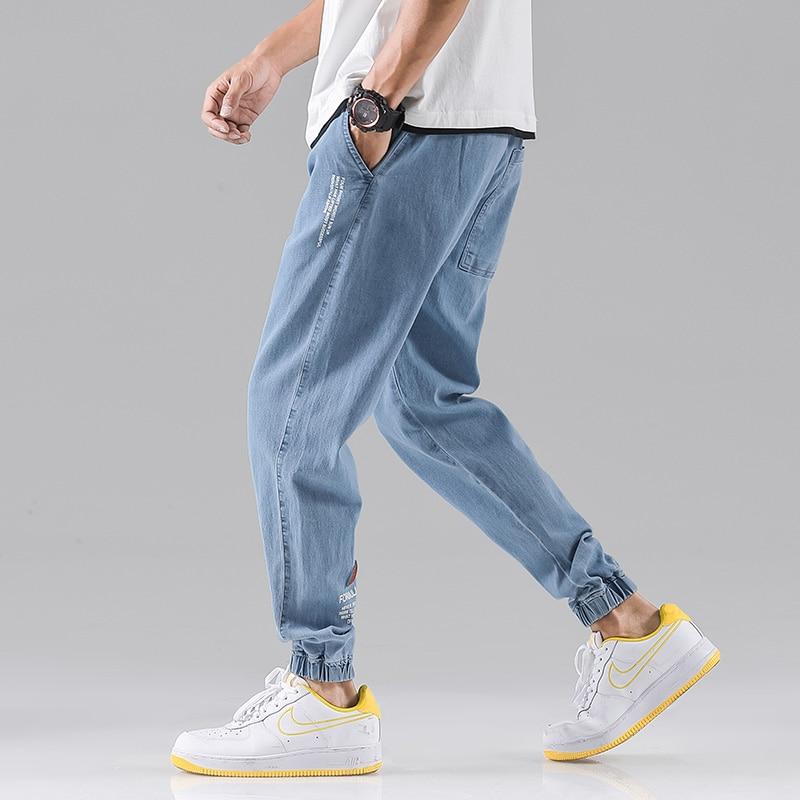 Jeans Men's Casual Pants Jogging Pants Work Jeans Loose Pants Jeans Homme Men's Gray Jeans