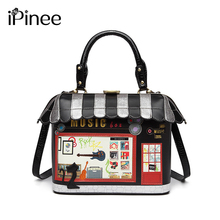 IPinee 2020 여성 숄더 백 이탈리아 Braccialini 핸드백 스타일 레트로 핸드 메이드 Bolsa Feminina 숙녀 집 모양의 가방