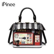 IPinee 2020 kadın omuzdan askili çanta İtalya Braccialini çanta tarzı Retro el yapımı Bolsa Feminina bayanlar için ev şeklinde çanta