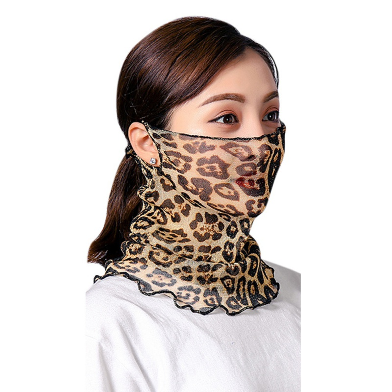 Temperament Neck Breathable Mask Spring And Summer New Anti-ultraviolet Chiffon Tulle Skirt Sunscreen Multifunctional Large Mask