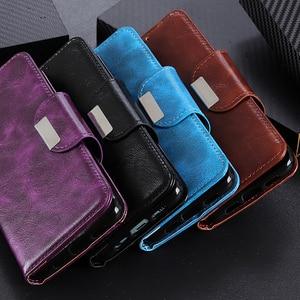 Image 2 - 6 fentes pour cartes portefeuille Flip étui en cuir pour Xiaomi A3 Lite 9 SE 9T Pro Redmi Note 8 Pro 7 7A K20 Pro fermeture magnétique cartes poche