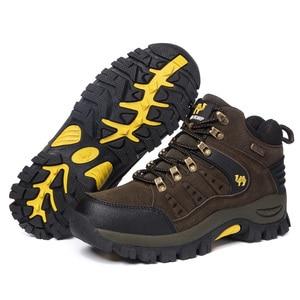 Image 5 - 2019 커플 야외 산 사막 등산 신발. 남성 여성 발목 하이킹 부츠, 플러스 사이즈 패션 클래식 트레킹 신발
