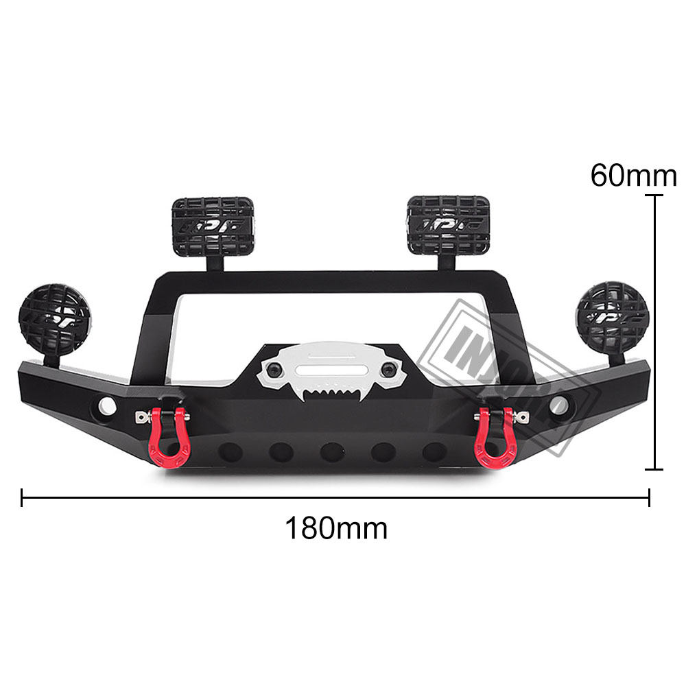 Image 2 - INJORA TRX 4 Metal Front Bumper with Led Light for 1/10 RC Crawler Traxxas TRX4 Sport 82024 4 PartsParts & Accessories   -