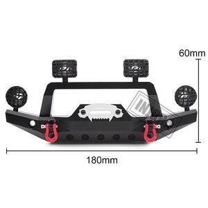 Image 2 - INJORA TRX 4 Metalen Voorbumper met Led Licht voor 1/10 RC Crawler Traxxas TRX4 Sport 82024 4 Onderdelen