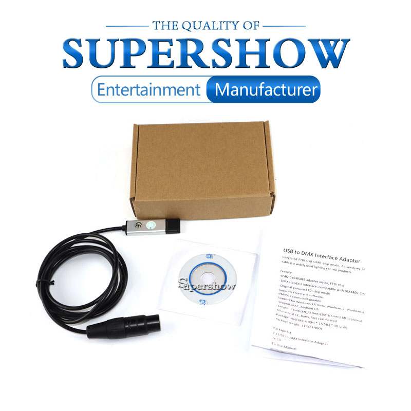 H91dd30cb05954b08bc448e559d3d23d2l - USB to DMX512 Interface Adapter LED DMX512 Computer PC Stage Lighting Remote Control Cable Freestyler Download