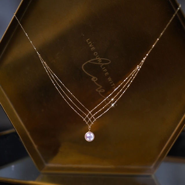 18 k sólido amarelo ouro jóias (au750) feminino colar de renda gargantilha corrente natural akoya mar pérola moda senhora 1