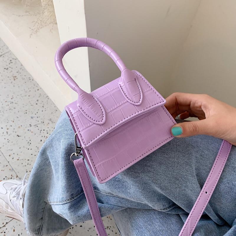 Super Mini Stone Pattern PU Leather  Crossbody Bags For Women 2020  Shoulder Handbags Female Travel Lipstick Cross Body Bag