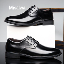 Misalwa Traditional Classic Men Dress Leather Shoes Italian Elegant Business Formal Derby Shoes Gentleman Daily Office Footwear