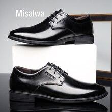 Misalwa traditionnel classique hommes robe en cuir chaussures italien élégant affaires formelle Derby chaussures Gentleman quotidien bureau chaussures