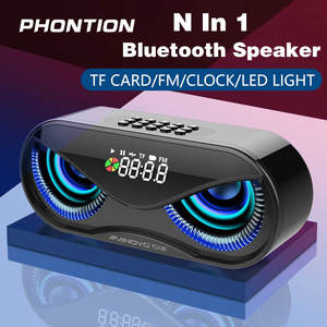 Portable Bluetooth Speaker Soundbar Fm-Radio Cool Owl Tf-Card-Support Wireless M6 Alarm-Clock