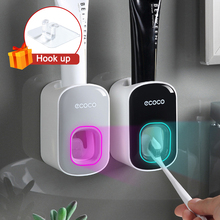 Automatic Toothpaste Dispenser Squeezers Toothpaste Tooth Dust-proof Toothbrush Holder Wall Mount Stand Bathroom Accessories Set
