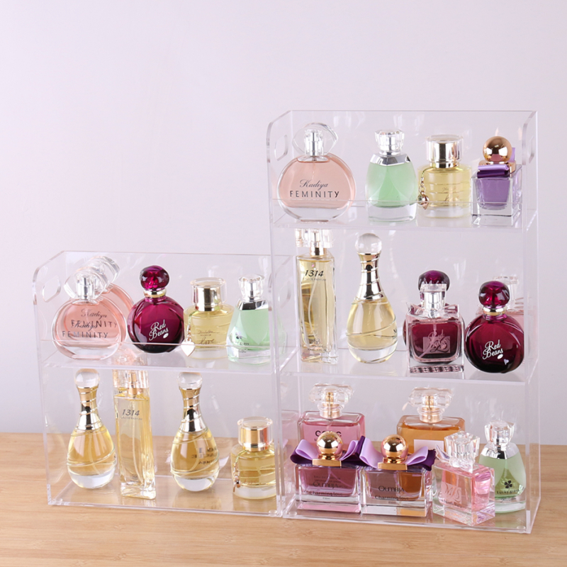 Acrylic  Perfume Holder Jewelry Organizer  Makeup Display Stand Coemetics Storage Case Perfume Display Box
