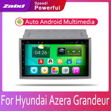 купить ZaiXi Android 2 Din Car radio Multimedia Video Player auto Stereo GPS MAP For Hyundai Azera Grandeur 2006~2011 Media Navi дешево