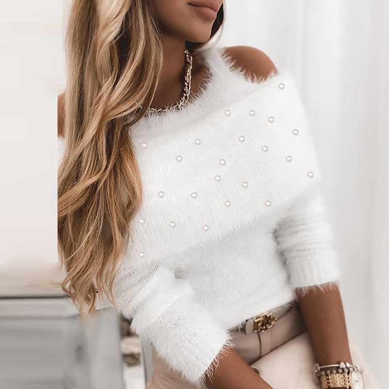 Hiver Sexy Pull Manches Longues Hauts Pullover