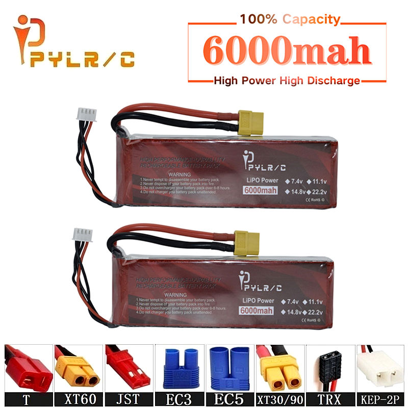 High Rate 14.8v <font><b>6000mAh</b></font> <font><b>Lipo</b></font> Battery For RC Helicopter Parts <font><b>4s</b></font> Lithium battery 14.8v 50C RC Cars Airplanes Drone Battery T/XT60 image