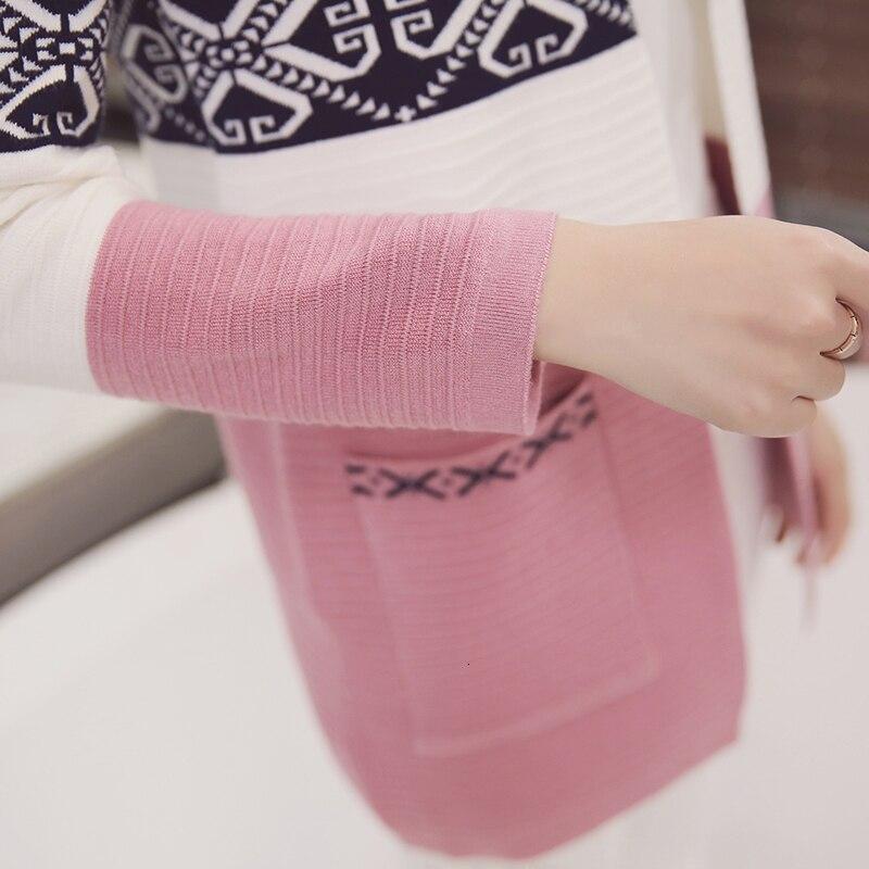 Women Knitted Cardigan Sweaters Coat Women's Sweater Top Feminine Clothes Long Sleeve Warm Jacket Korean Style Autumn Winter 13