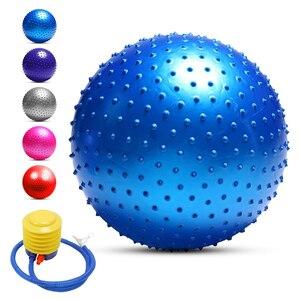 Image 3 - Мяч для йоги с защитой от взрывов, утолщенный стабильный баланс для пилатеса, физического упражнения, подарок, воздушный насос, 55 см/65 см/75 см