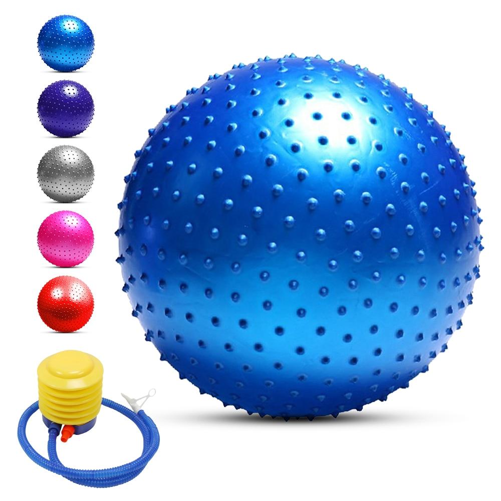 Image 3 - 55CM / 65CM / 75CM Anti burst Yoga Ball Thickened Stability Balance Ball Pilates Physical Fitness Exercise Ball Gift Air PumpYoga Balls   -