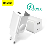 Baseus 24 w carga rápida 3.0 usb carregador ac adaptador para carregador sem fio viagem carregador do telefone móvel para iphone x 8 samsung s9 s8