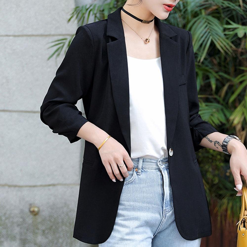 Casual Korean Style White Blazer Jacket Women Office Coat Business Black Pink Sweet Blazers Street Chic Outwear Spring Coats