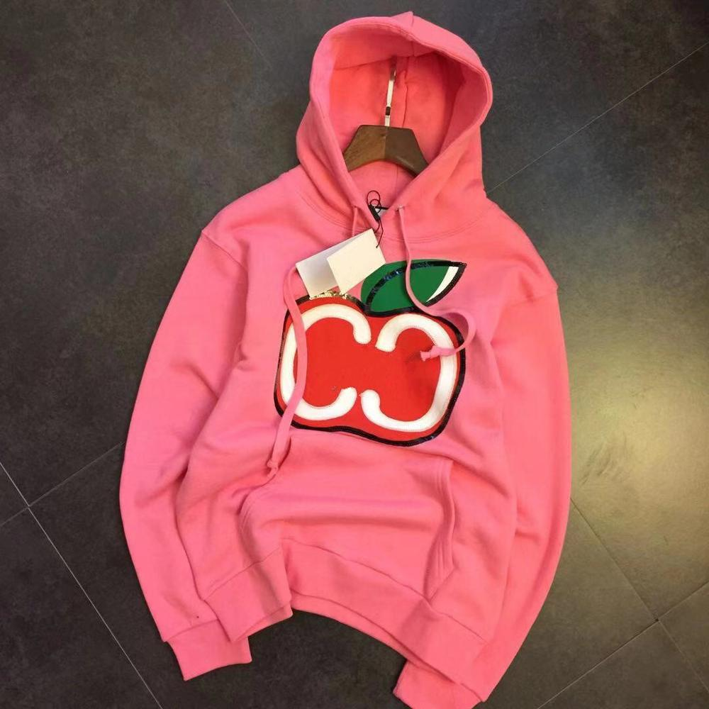 Woman Hoodies Fashion Apple Embroidery Printed Letter Winter Sweatshirt Casual Hooded Sweatshirts Have A Logo Lovers Pullovers