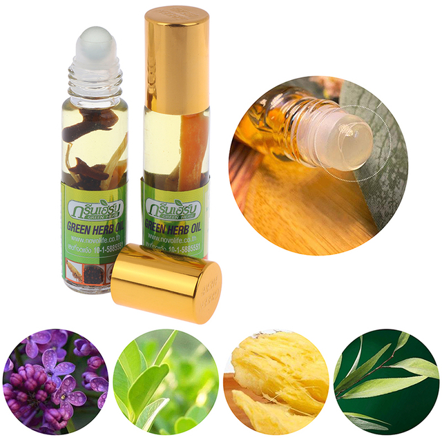 8ml Natural Balsam Balm Thai Green Herb Oil Herbs Thailand Green Ointment Muscle Pain Relief Ointment Compound Essential Oil 1