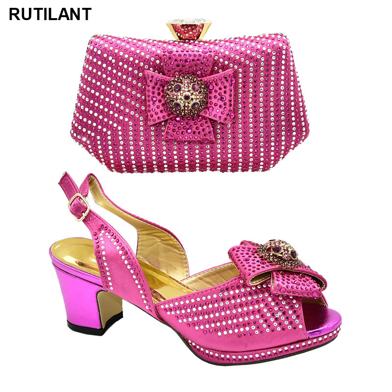 Latest Italian Shoes With Matching Bags High Quality Italian Shoes With Matching Bags For Wedding Italy Shoes Woman High Heel