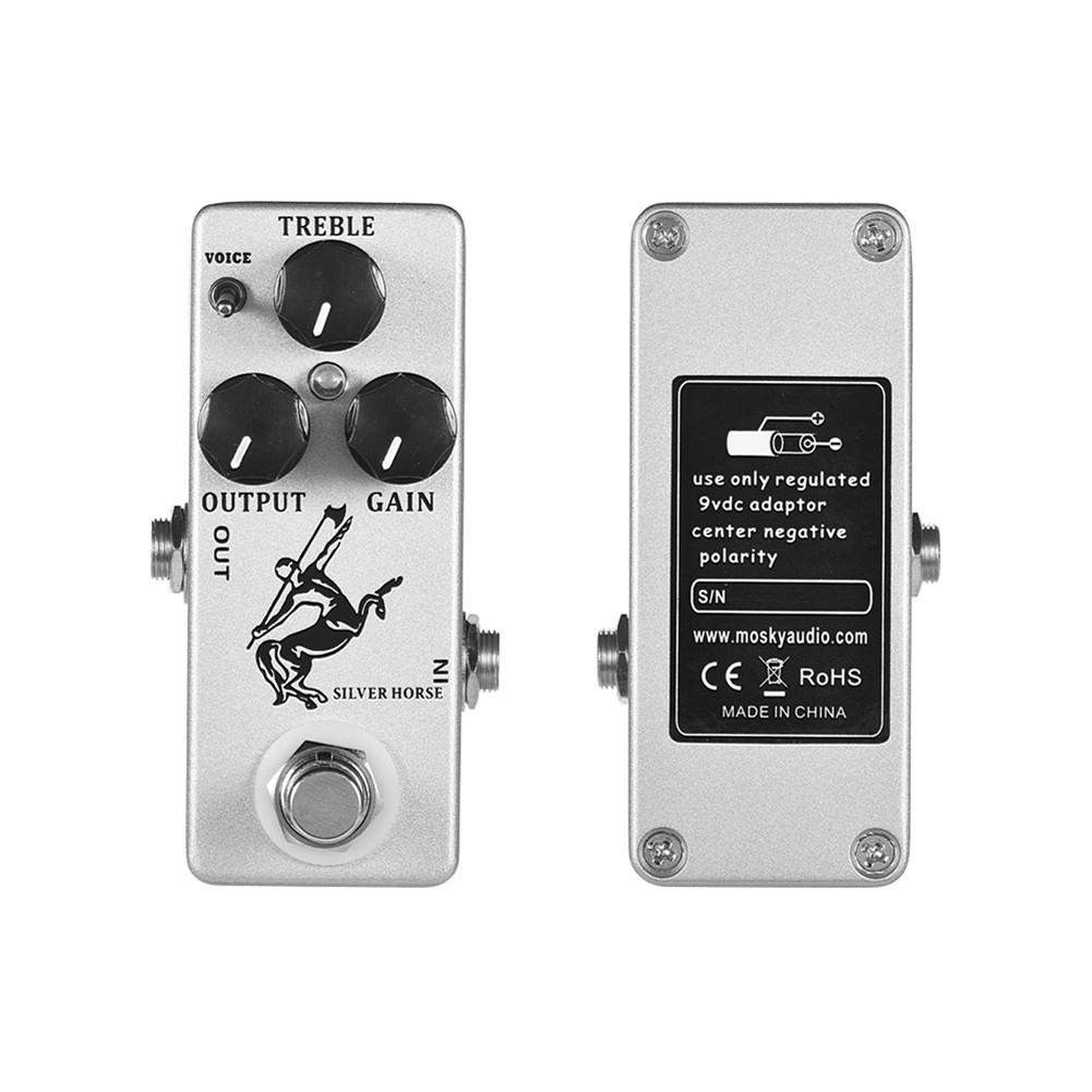 Hot Mosky SILVER HORSE Electric Guitar Mini Effect Pedal Overdrive Effect Pedal New Micro Pedal Guitar Accessories Guitar image