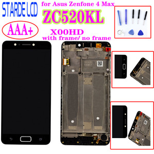 Starde 5.2'' Screen for Asus Zenfone 4 Max ZC520KL X00HD LCD Display Touch Screen Digitizer Glass Assembly with Frame and Tools