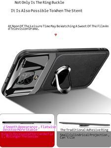 Image 5 - Für Redmi Hinweis 9 S Fall Luxus plexiglas leathe Abdeckung Stoßfest Zurück fall auf Für Redmi Hinweis 9 S 8 9 7 Pro magnet auto halter rop