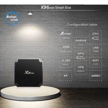 X96mini android box 2g/16g wifi 4k caixa inteligente livre navio da frança espanha só caixa sem canais incluídos