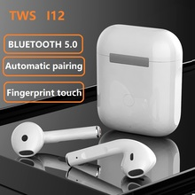 tws I12 Original TWS In ear Blutooth Earphones  Wireless Sport Headset Stereo Headphones fone de ouvido auriculares PK I90000