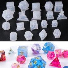 DIY kristal epoksi kalıp zar fileto şekli çok spec dijital oyun yüksek ayna zar kalıp silikon kalıp yapımı