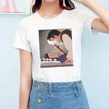 Camiseta mujer Streetwear Vintage cómoda Vogue estilo coreano Kawaii Harajuku verano mujeres ropa 2019 suave camiseta Mujer