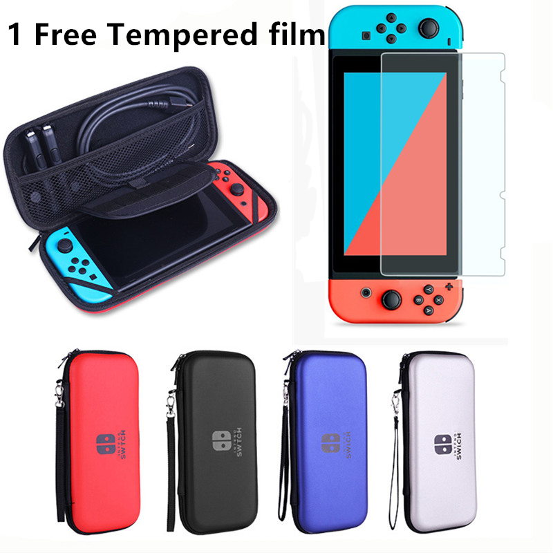 4 Colors EVA Hard Waterproof Case Cover For Nintend Switch Protective Bag for Game Consoles Switch Storage Bag With Logo