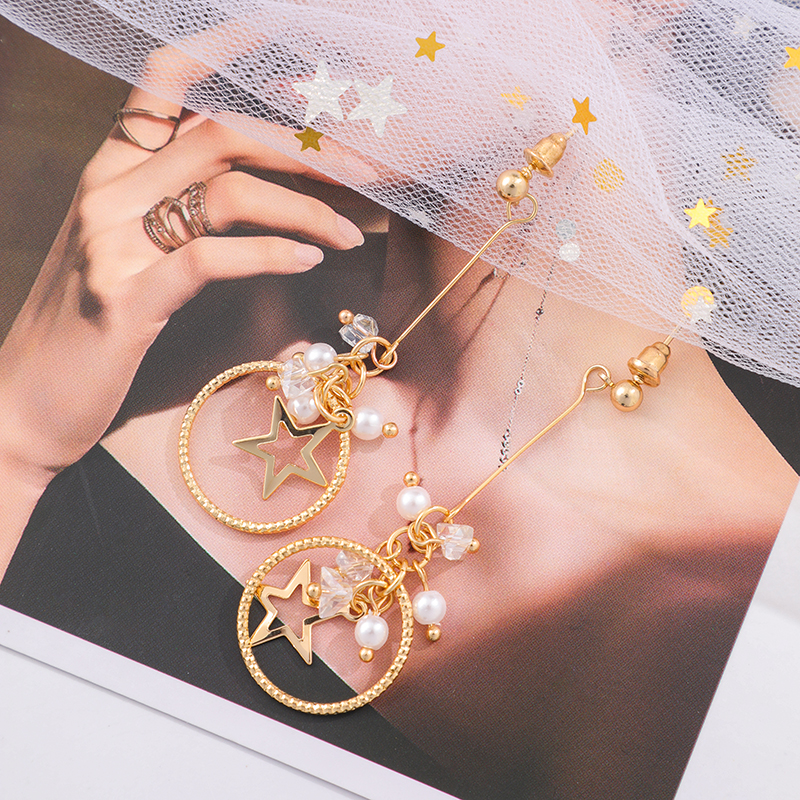 Shamir Han Edition Hollow Out The Stars Tassel Personality Contracted Joker Fashion Stud Earrings Girl Jewelry Gifts