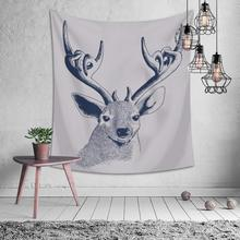 Cartoon Animal Deer Cat Fruits Tapestry Hippie Mandala Wall Hanging Bedroom Polyester Travel Camping Psychedelic Tablecloth natural animal deer flamingo tapestry hippie mandala wall hanging bedroom polyester travel camping psychedelic tablecloth