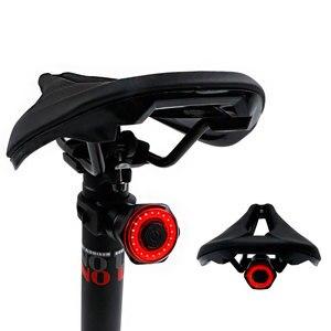 Image 5 - ЛМС умный задний фонарь для велосипеда с возможностью задний светильник Авто старт/стоп сигнал IPX6 Водонепроницаемый USB зарядка Велоспорт Хвост светильник велосипедные светодиодные фонари светильник s