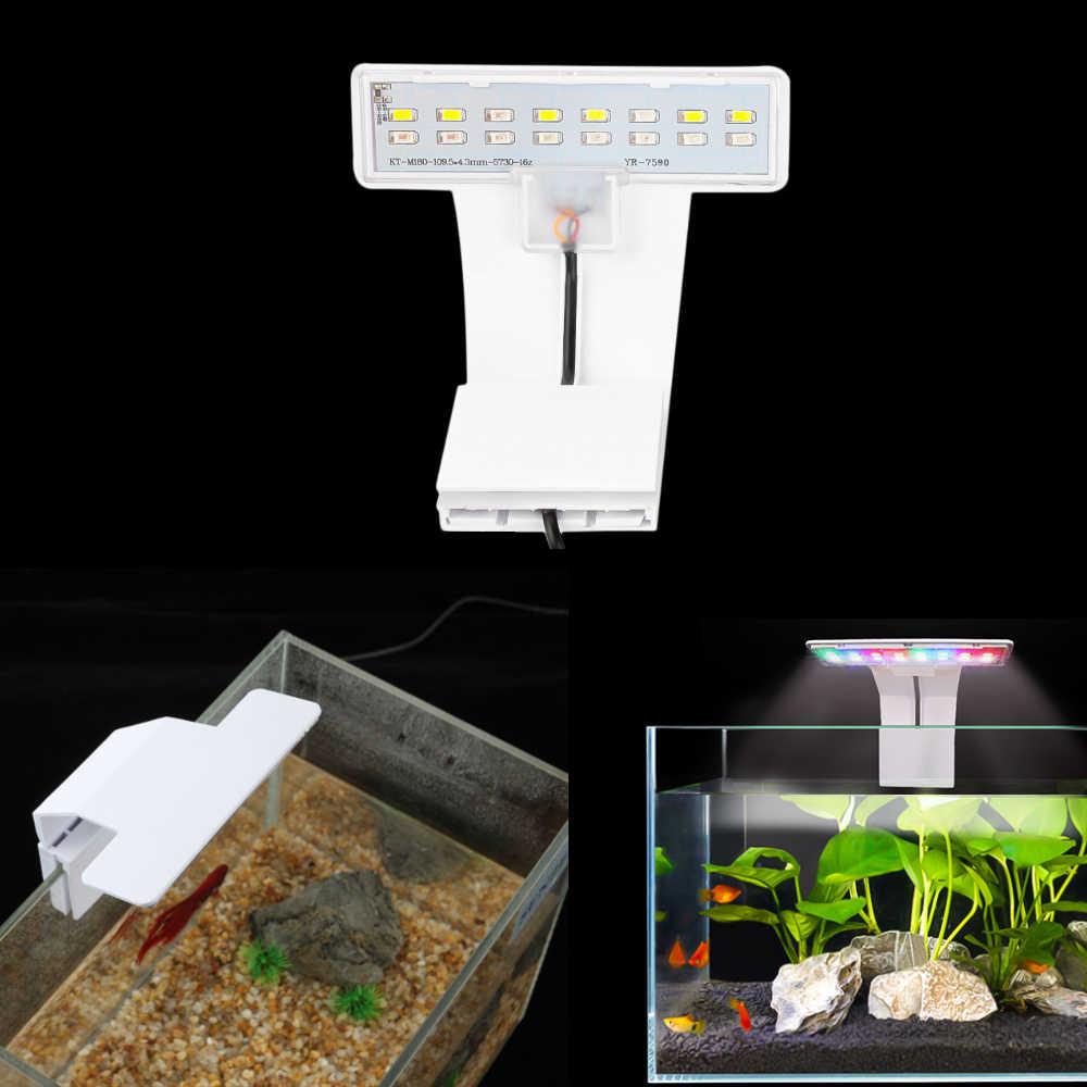Aquarium Lamp LED Plant Light Fits Tanks 6MM Thickness Aquatic Lamp Aquarium Bracket Light