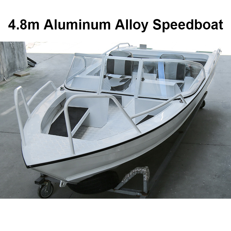 White Speed Boat Aluminum Alloy Boat Speedboat Fishing Ship Vessel Speedboat Assault Boat Water Sport