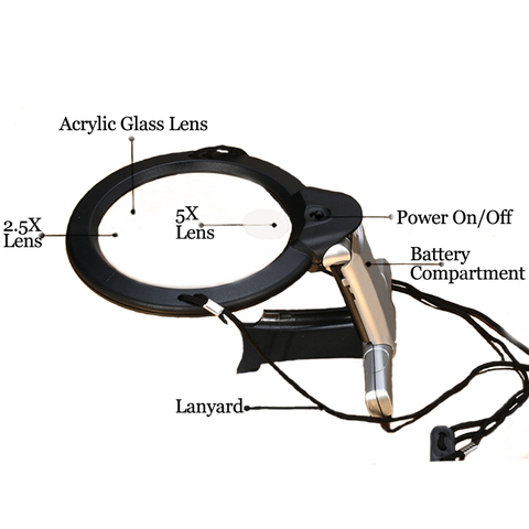 Hands Free LED loupe Lighted Reading Magnifier Table Hanging Magnifying Glass For Seniors Sewing Cross Stitch Embroidery Repair Islamabad