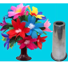 Magic Tricks Cylinder Flower Gimmicks-Props Mentalism Close-Up Stage Illusion Appearing