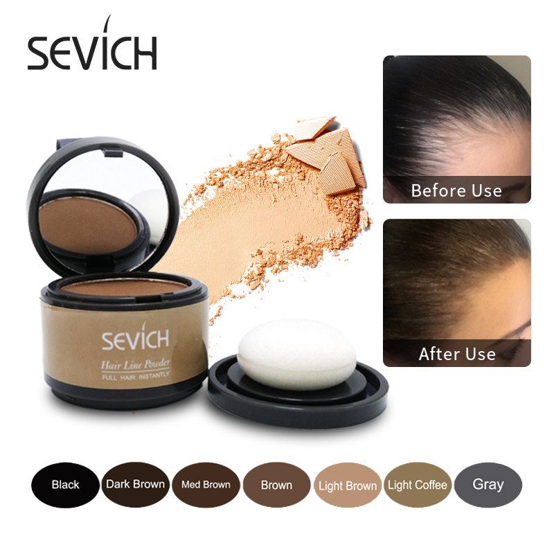Sevich Hair Fluffy Powder Instantly Hair Concealer Coverage Instantly Black Root Cover Up Natural Instant Hair Line Shadow