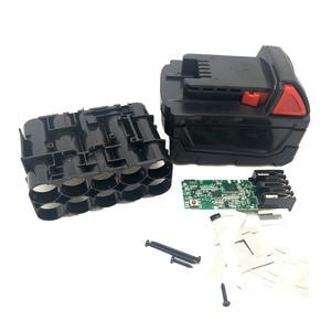 Image 2 - For Milwaukee 18V M18B Li ion Battery Plastic Case Charging Protection Circuit Board M18 48 11 1815 3Ah 4Ah 5Ah PCB Board Shell