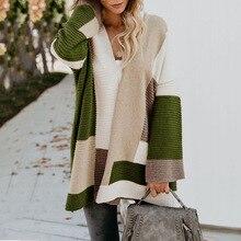 Женский свитер, Осень-зима, Женский вязаный свитер с рукавом-фонариком, джемпер, свободный, с отложным воротником, женские кардиганы, верхняя одежда, топ, блузка