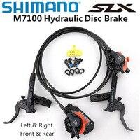 Shimano slx m7120 4 pistão m7100 2 pistão conjunto de freio a disco hidráulico para mountain bike mtb freio 800/900 1500/1600mm esquerda & direita