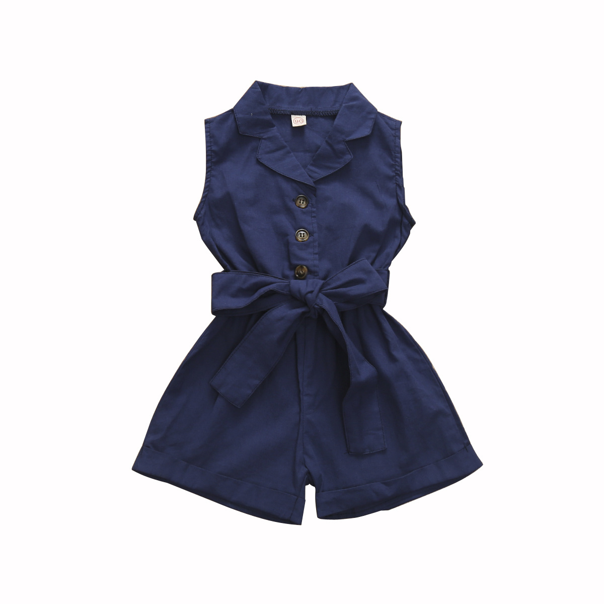 Baby Girl Romper Bow Tie Jumpsuit