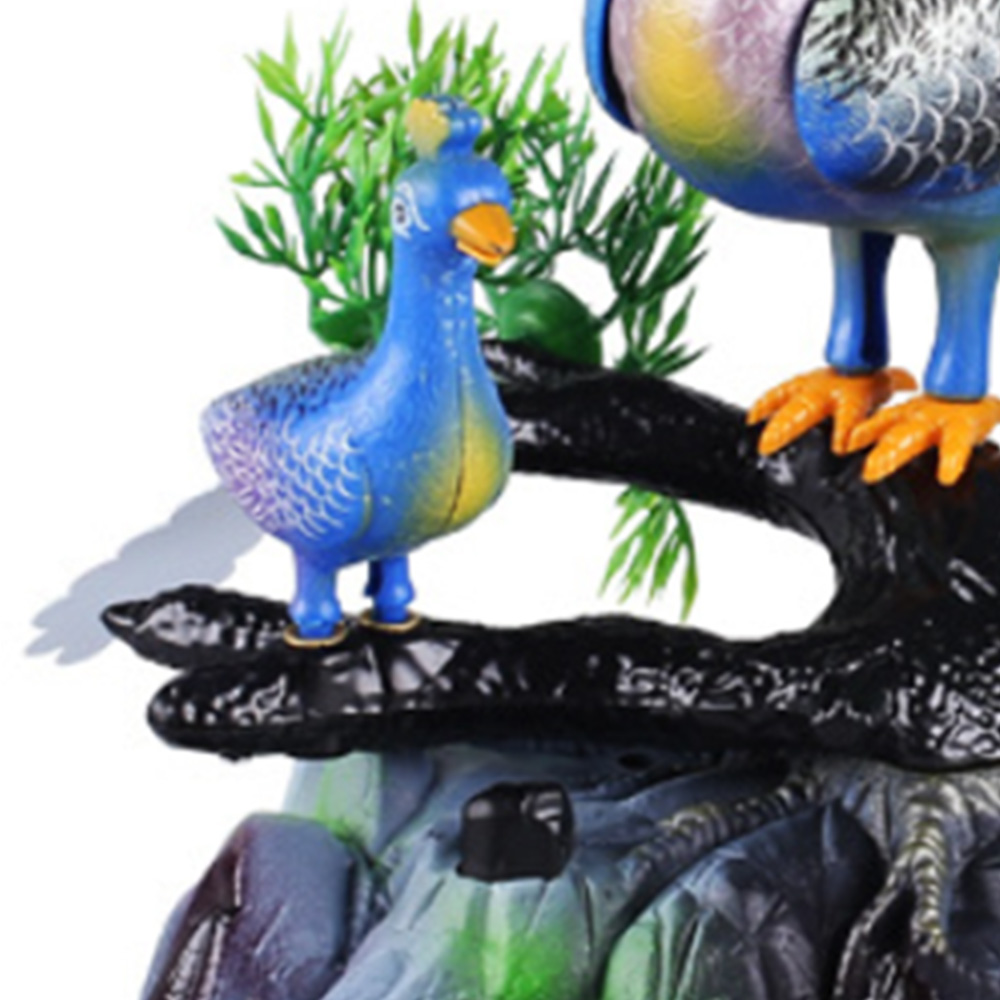Electric Birds Sound Voice Control Pet Toy Animal Simulation Peacock Kids Toy Gift Garden Peacock Ornaments