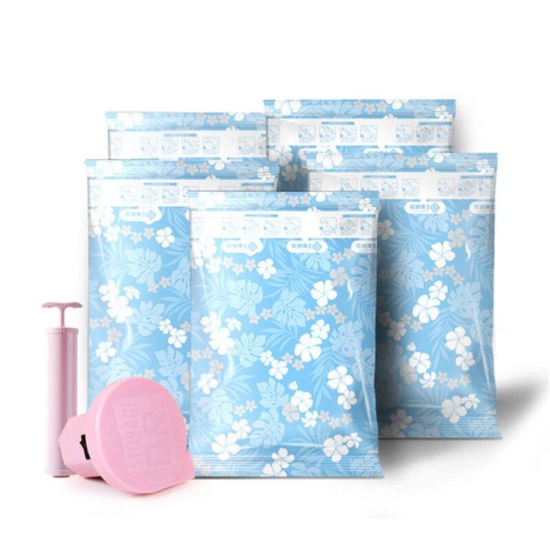 Домашний удобный вакуумный компрессионный мешок зефир и воздуходувки печать одежда уплотнение Сжатый для экономии места в путешествии сумки посылка - Цвет: Flowers